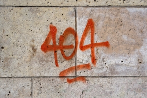 404 Error on the wall